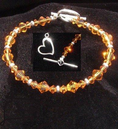 Topaz Crystal Bracelet