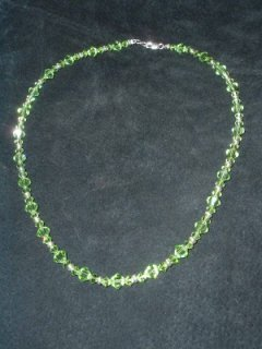 Peridot Crystal Necklace