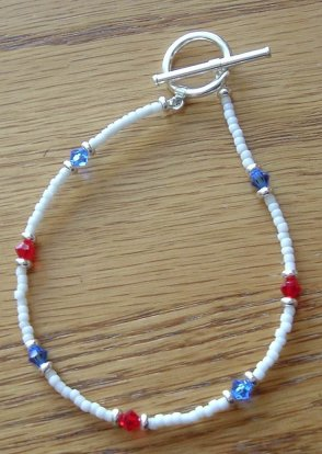 SeedBead Red, White, and Blue 7