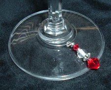 Siam crystal wine charm